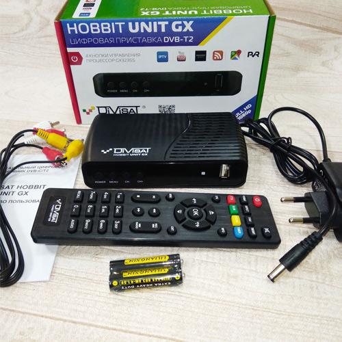 Цифровой эфирный DVB-T2/С ресивер UNUT GX, пластик, АС3, WiFi
