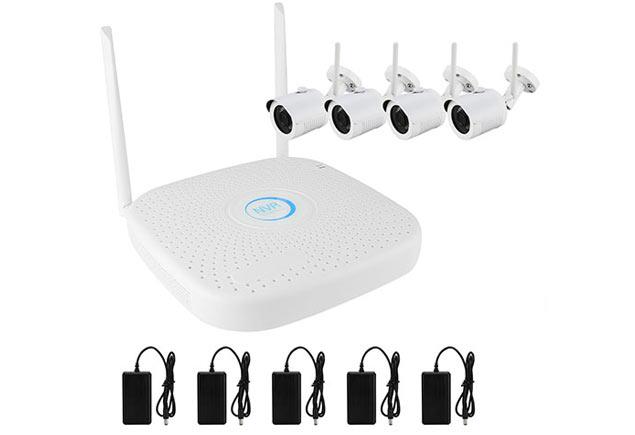 PX-KIT-PG420-10W комплект видеонаблюдения на 4 wi-fi видеокамеры 720P