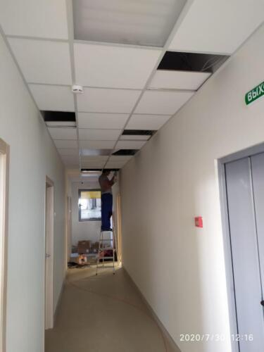 1 Прогладка проводов в подвесном потолке