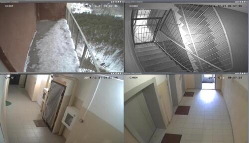 Обзор камеры видеонаблюдения в подъезде